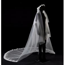 3.5m catedral velo de novia velo de encaje velo de novia
