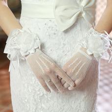 Guante de la boda Elegante Otoño Flores