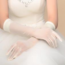 Guante de la boda vendimia Satén Otoño