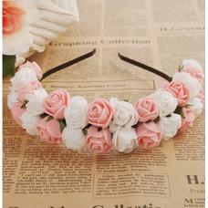 Guirnaldas de flores de cinta pelo pelo de vestido de boda de las chicas de viaje niños