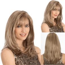 Oblicuo de pera amarillo pony todos adultos 45-50 CM peluca