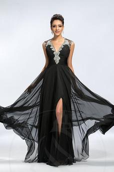 Vestido de noche Espalda Descubierta Natural Corte-A primavera Frontal Dividida