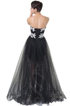 Vestido de noche Elegante Capa de encaje Encaje Hasta el suelo Reloj de Arena