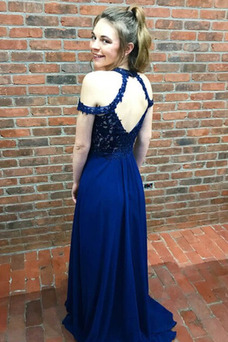 Vestido de noche Romántico Drapeado Capa de encaje Corte-A Otoño Encaje