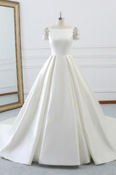 Vestido de novia Falta Satén Formal Invierno Natural Recatada