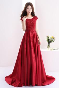 Vestido de fiesta Elegante primavera Sin mangas Joya Falta Corte-A