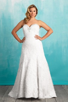 Vestido de novia Modesto Cremallera Cristal Sin mangas Corte-A primavera