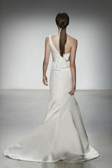 Vestido de novia Sencillo Corte Sirena Natural Cola Capilla Sin mangas