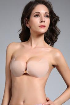 Vestido de sigilo se reunieron que anti vaciar silicona respirable Invisible sujetador