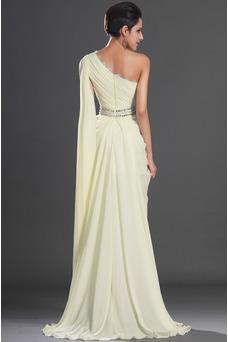 Vestido de noche Elegante Capa de tul Blusa plisada Gasa Apertura Frontal