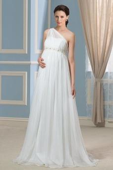 Vestido de novia Cola Barriba Espalda medio descubierto Imperio Cintura