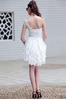 Vestido de graduacion Espalda medio descubierto Sin mangas Corto Corte-A