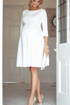 Vestido de noche Cremallera Natural Embarazadas Oscilación Sencillo