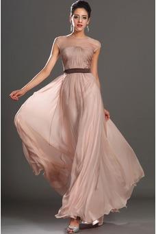 Vestido de noche Natural Capa de tul Fajas Tallas pequeñas Fuera de casa