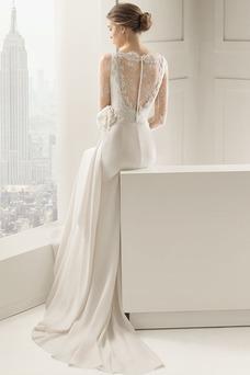 Vestido de novia Verano largo Modesto Flores Imperio Barco