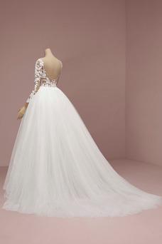 Vestido de novia Sencillo Drapeado Sala Corte-A Espalda Descubierta