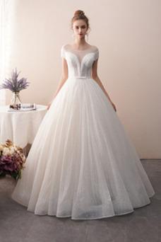 Vestido de novia Colores Sin mangas Estrellado Otoño Corte-A Hasta el suelo