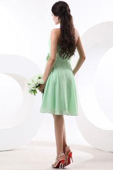 Vestido de dama de honor Gasa Corto Verano Fuera de casa Sin tirantes Oscilación