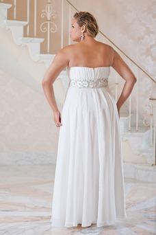 Vestido de novia Verano Plisado largo Cremallera Gasa Escote Corazón