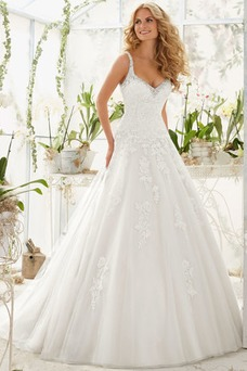 Vestido de novia primavera Sin mangas vendimia Cola Capilla Sala Corte-A