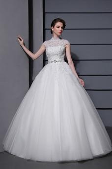 Vestido de novia Fajas primavera tul Sala Bola Cremallera