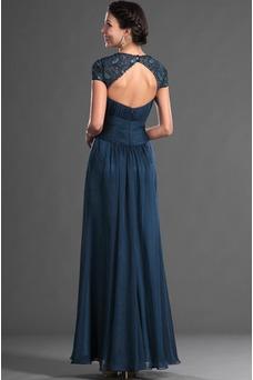 Vestido de madrina Elegante Manzana Escote sexy Blusa plisada Natural