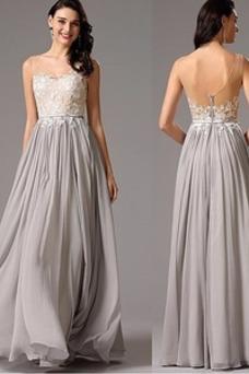 Vestido de noche Elegante Espalda Descubierta Natural Drapeado Corte-A