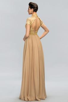 Vestido de noche Elegante Capa de encaje Pera Encaje Hasta el suelo
