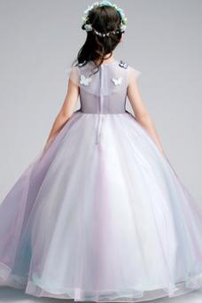 Vestido niña ceremonia Sin mangas Corte-A primavera Joya Natural Formal