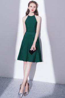 Vestido de cóctel Elegante Falta Corte-A Natural Sin mangas Hasta la Rodilla