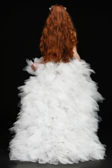 Vestido niña ceremonia Sin mangas Escote con cuello Alto Asimètrico Invierno