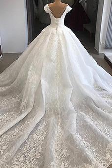Vestido de novia Natural Cordón Falta Corte-A Espectaculares Verano