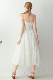 Vestido de novia Encaje Sin mangas Cordón Falta Encaje Escote de Tirantes Espaguetis
