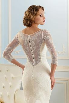 Vestido de novia Encaje Fuera de casa Formal Otoño Corte Sirena Natural