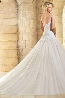 Vestido de novia Cremallera Formal Abalorio Corte-A Manga corta Escote Corazón