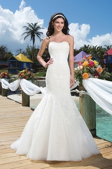 Vestido de novia Playa Organza Escote Corazón Otoño Clasicos largo