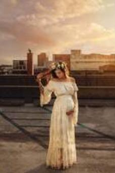 Vestido de novia Manga larga Fuera de casa Imperio Capa de encaje Encaje
