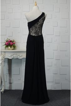 Vestido de noche Elegante Encaje Corte-A Capa de encaje Natural Falta