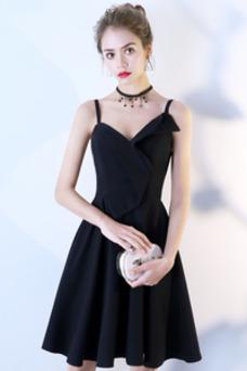 Vestido de cóctel primavera Natural Sin mangas Espalda Descubierta Corte-A