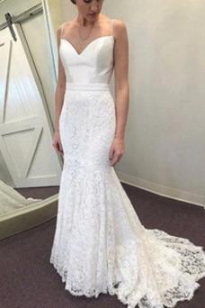Vestido de novia Drapeado Hasta el suelo Cremallera Triángulo Invertido