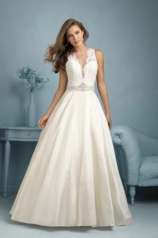 Vestido de novia largo Sala Colores Corte-A primavera Satén