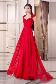 Vestido de noche Elegante Verano Drapeado Encaje Hasta el suelo Capa de encaje