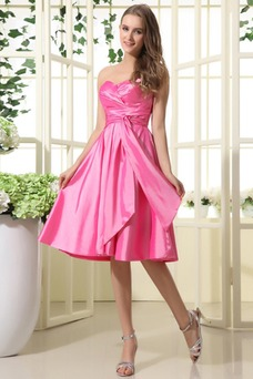 Vestido de dama de honor Oscilación 2015 Corte-A Volantes Adorno Corto Verano