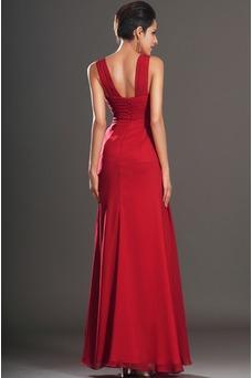 Vestido de fiesta Fuera de casa Imperio Cintura rubí Espalda medio descubierto