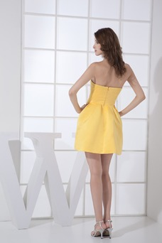 Vestido de dama de honor Corto Natural Falta Corte-A Satén Flores