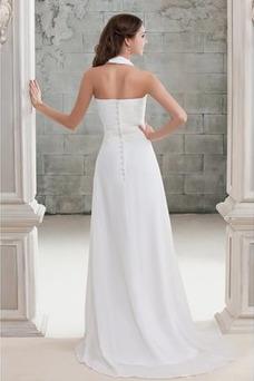 Vestido de novia Elegante Cremallera Escote en V Corte-A Cola Barriba