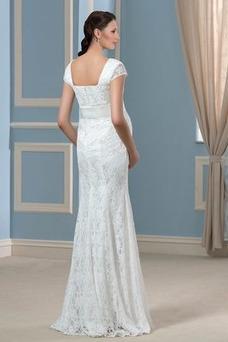 Vestido de novia Embarazadas Cremallera Imperio Cintura primavera Cola Barriba