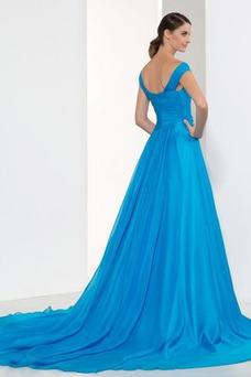 Vestido de noche Espalda Descubierta Elegante Escote en V Natural Cola Barriba