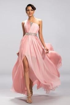 Vestido de noche Elegante Corte-A Sin mangas Frontal Dividida Espalda medio descubierto