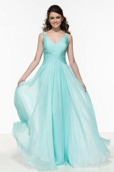 Vestido de fiesta Elegante Plisado Espalda Descubierta Verano Escote en V